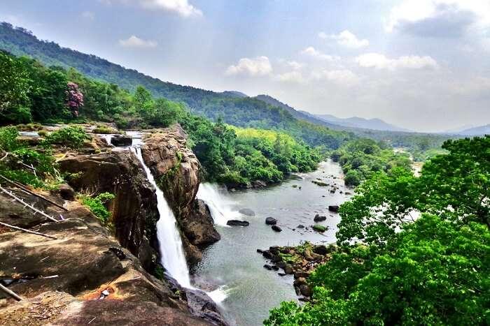 athirapally waterfalls view