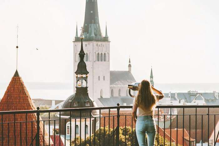 summer view of the city in Estonia