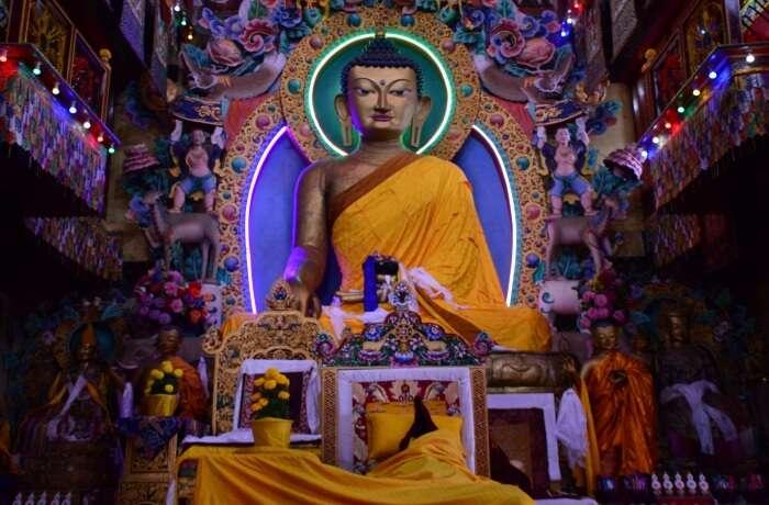 a big buddha statue