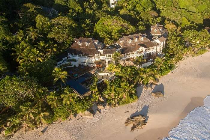 Aerial of Banyan Tree Seychelles