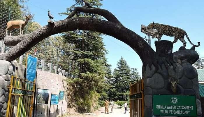 entrance to wildlife sanctuary