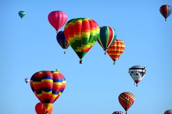 Flight on a Hot Air Balloon