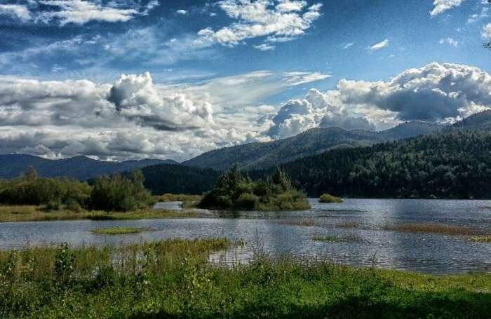 Lake Cerknika in Slovenia