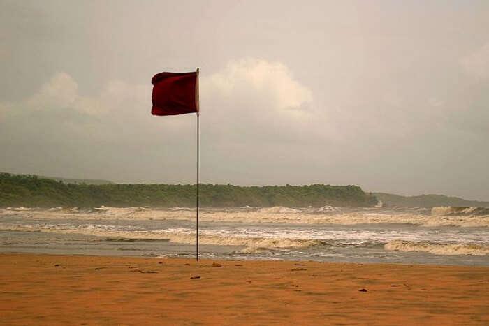 Flag at a beach