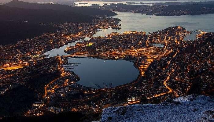 Mount Ulriken In Bergen