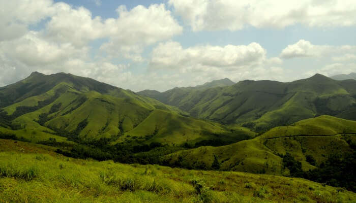 green valleys and blue sky