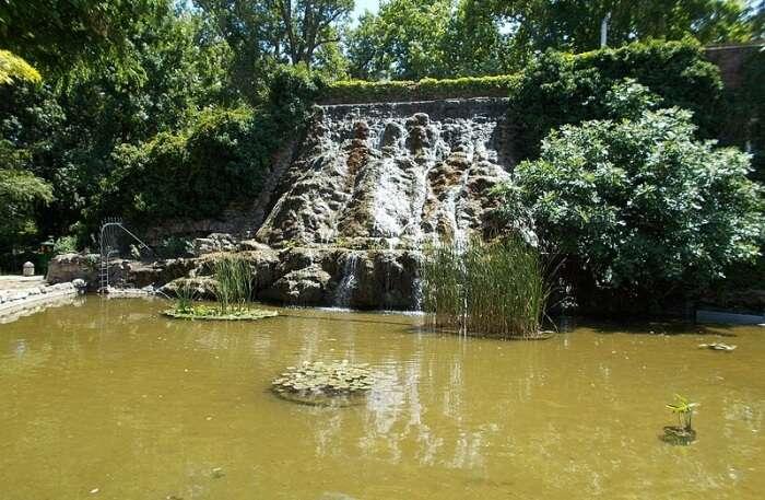 Roman Bath waterfall