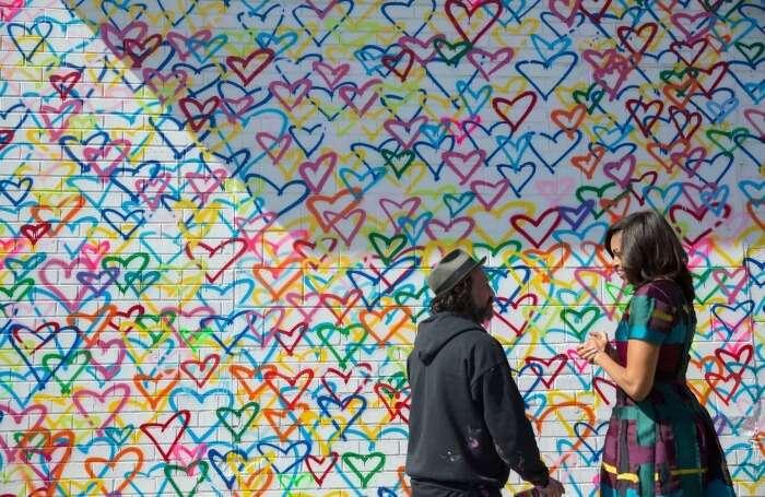Union Market's Heart Wall
