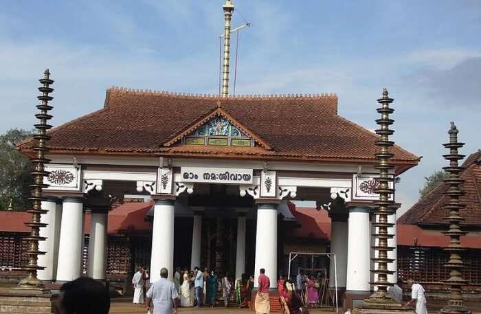Vaikom Mahadeva Temple View