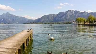 alpine lake Mondsee