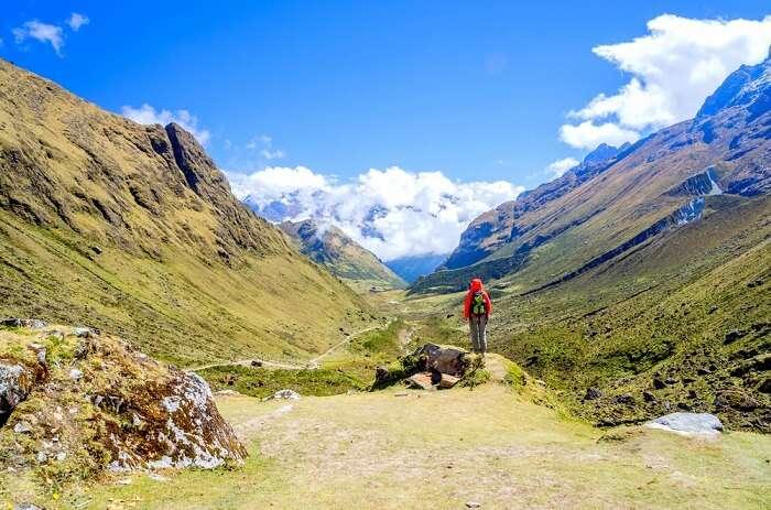 tourist in peru salkantay trek