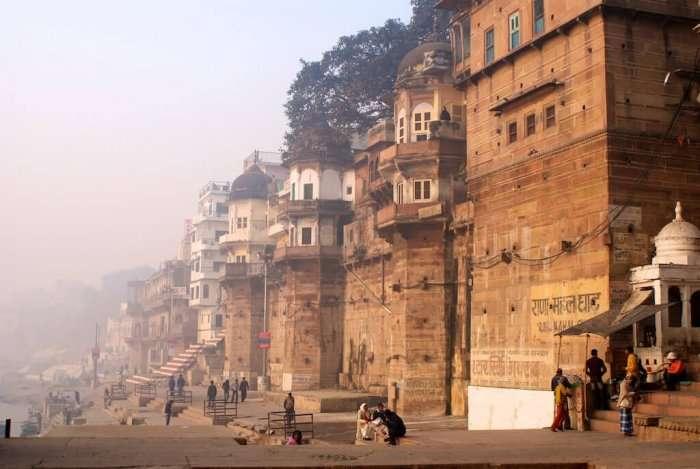 ghat adjacent to the palace of maharaja