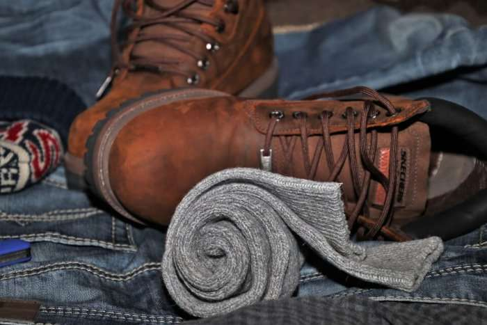 woolen scarf and boots