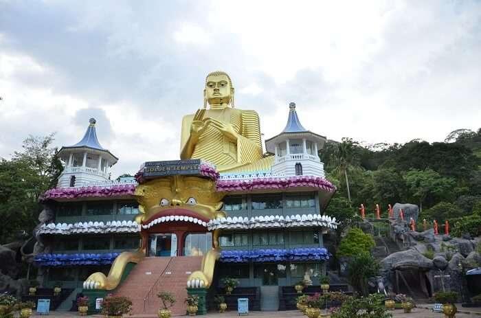 explore the famous Golden Rock cave temple