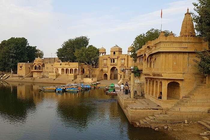 Amar Sagar Lake in Jaisalmer