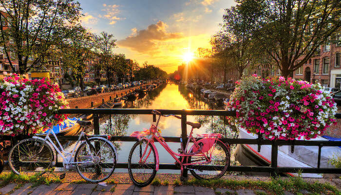 Beautiful View of Amsterdam