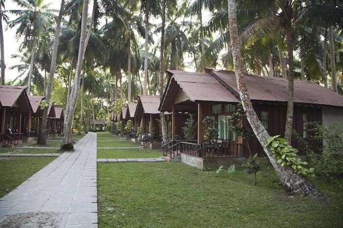 A beach resort