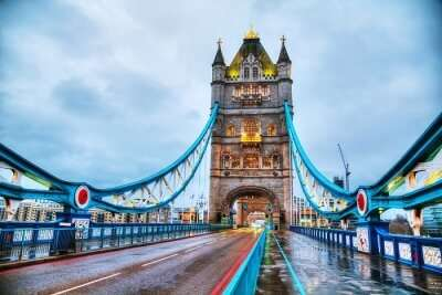 view of the famous bridge in London