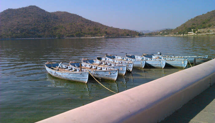 Boats at Fateh Sagar Lake