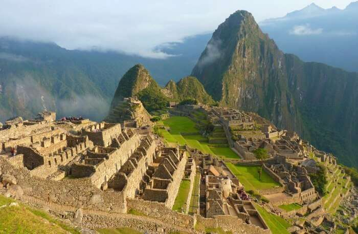Panoramic View Of Inca Drawbridge