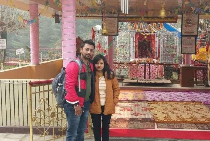 seeking blessings in mandir