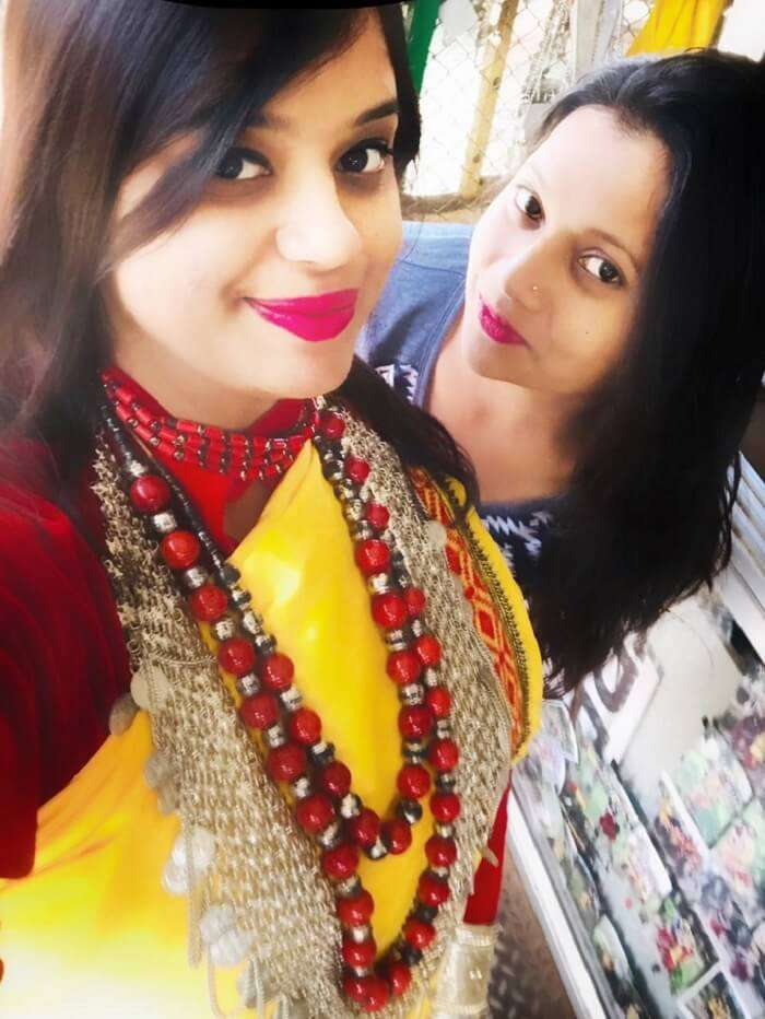 dressed up in the traditional Khasi Dress