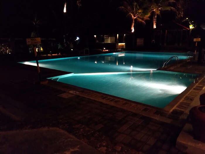 spent some time at the poolside