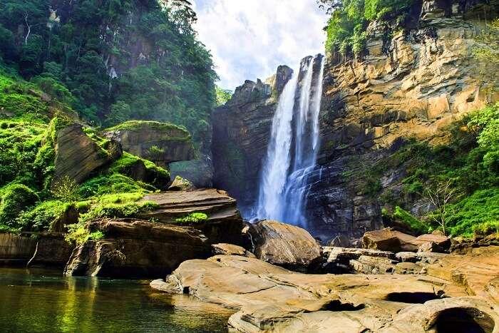 Laxapana Falls in Sri Lanka