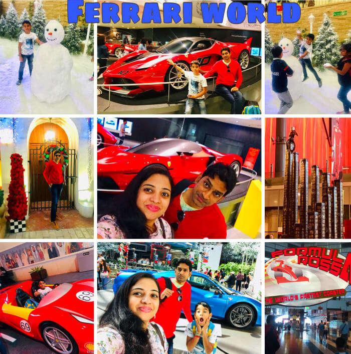 Reached to Ferrari World