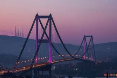 bridge in the evening