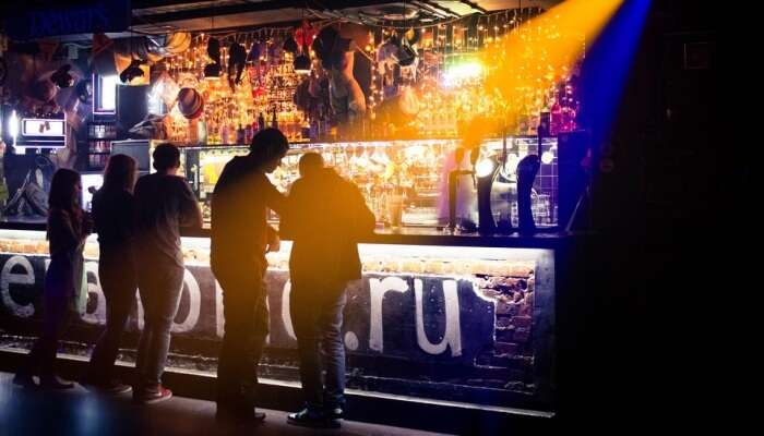 people partying at a nightclub