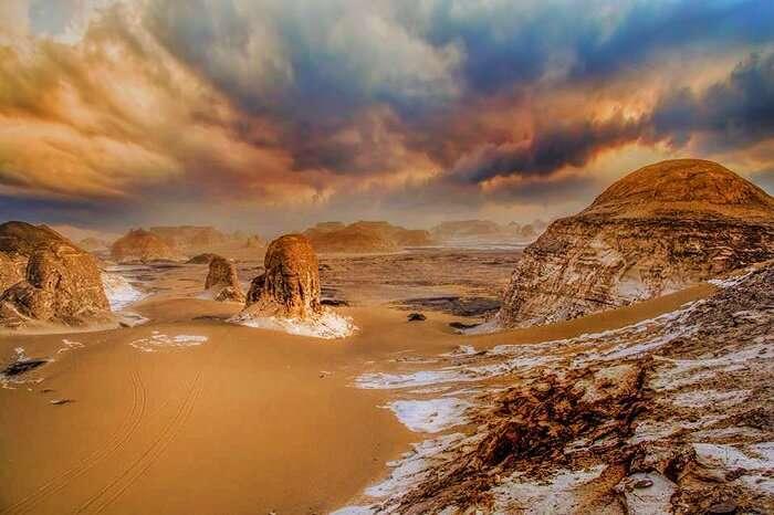 the White Desert in Bahariya Oasis