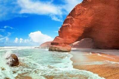 famous beach in Morocco