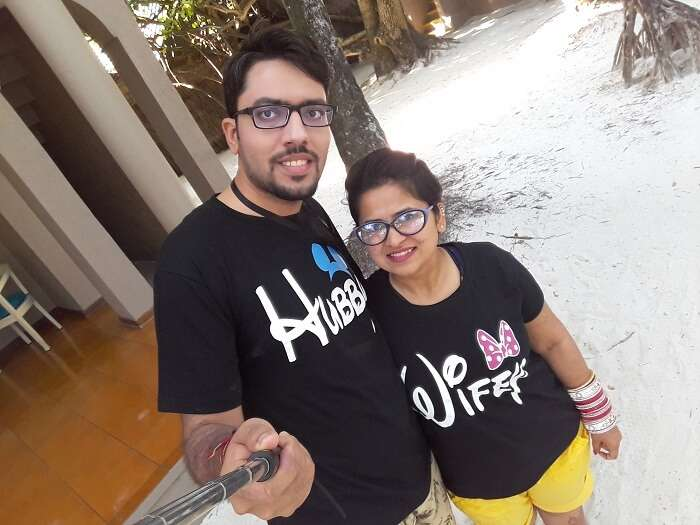 a perfect vacation with wife