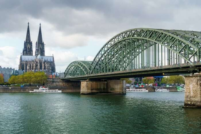 Cologne Cathedral Cologne Rhine Hohenzollern Bridge