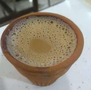 enjoying having Hot coffee