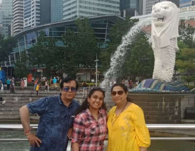 cover - Akansha family trip to Singapore