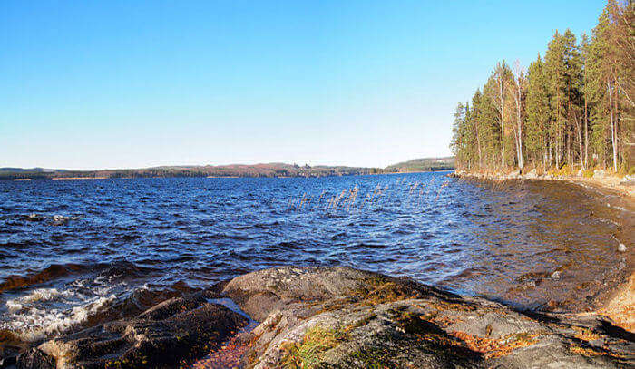 Lake Keitele View In Finland