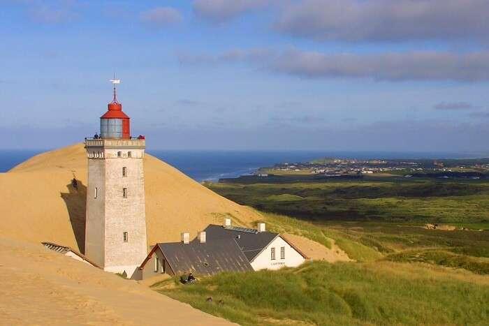 Rubjerg Knude Lighthouse in Denmark