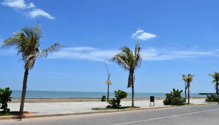 Seafront promenade in Pondicherry