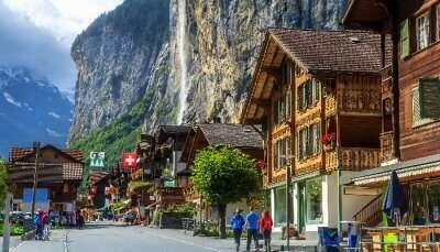 View of Switzerland