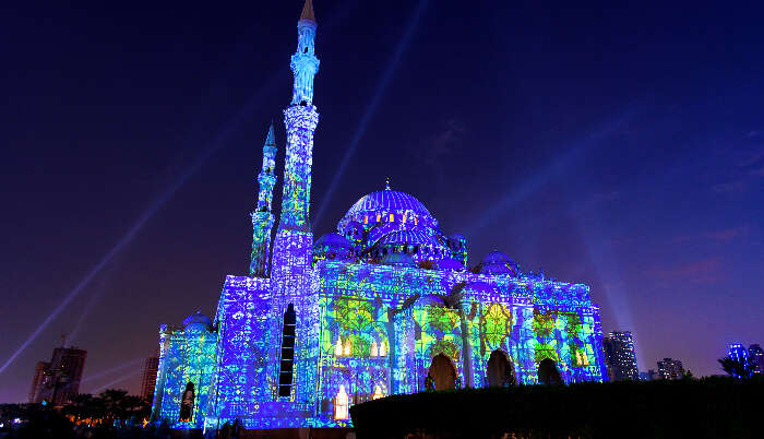 Sharjah Mosque in UAE