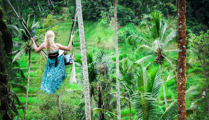 Girl Enjoying in Ubud