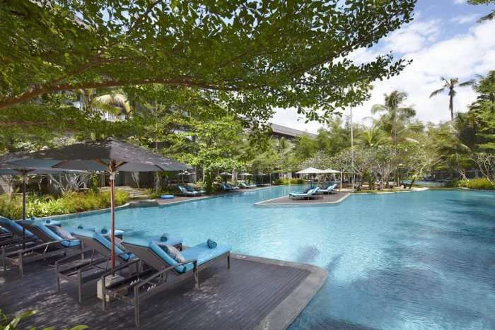 pool view of courtyard