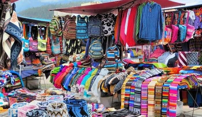 flea market on beach
