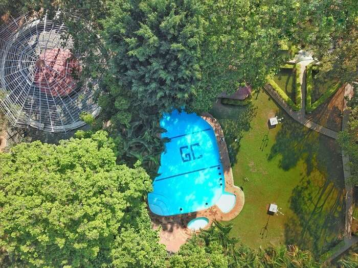aerial view of goldcoin