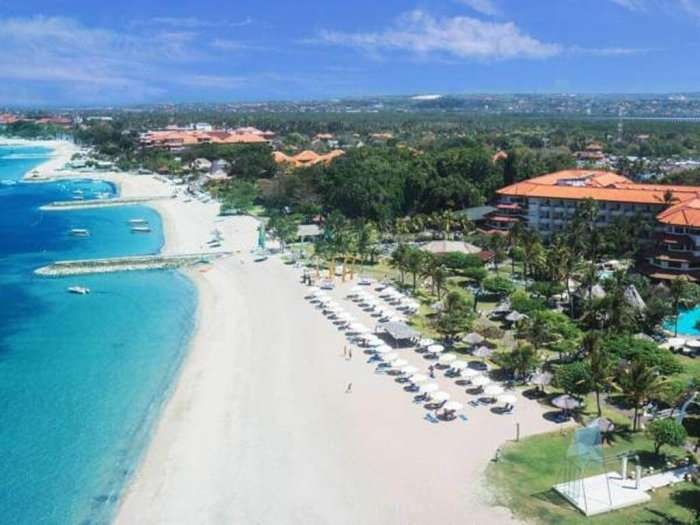 aerial view of mirage resort