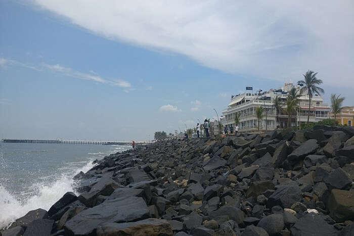 beach in Pondicherry