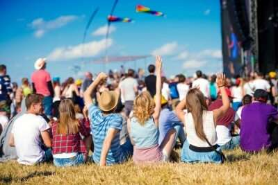People at a music festival