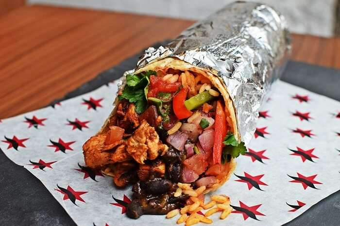 big sized burrito
